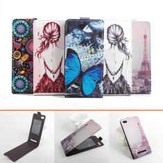 Up-down Flip Colorful Drawing PU Leather Case For LEAGOO Lead 7