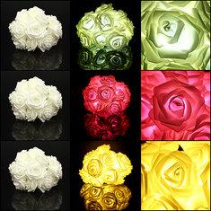 20 LED Rose Flower Lights Lamp Garden Party Decorative Lights
