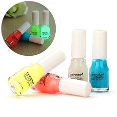 4 Colors neeDme Noctilucent Fluorescent Colorful Nail Art Polish