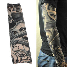 1 Pcs Nylon Spandex Temporary Stretchable Tattoo Sleeve Arm Stocking