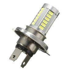 H4 5630 33 LED SMD Super Bright White Car Lens Fog Light Headlight Driving Lamp Bulb