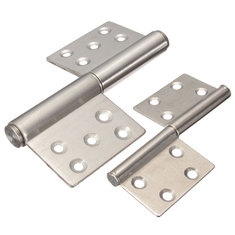 4 Inch 5 Inch Flag-type Hinges Detachable Stainless Steel Door Hinge  for Home Bedroom Kitchen Bathroom Door