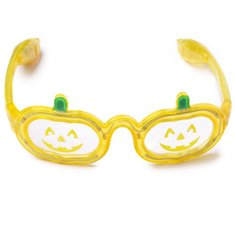 Halloween Led Glowing Pumpkin Glasses Flashing Decorate Makeup