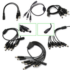 5.5 x 2.1mm Female To Male Plug DC Splitter Connector For LED Lighting