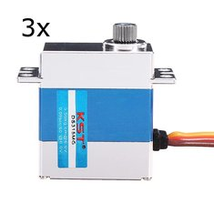 3X KST DS315MG Metal Digital Swash Plate Servo For 450 RC Helicopter