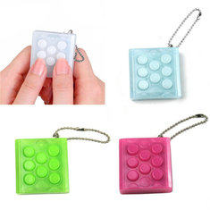 Electronic Puchi Stress Reliever Squeeze Bubble Crazy Gadget Endless Pop Pop Key Chain