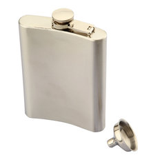 8OZ Stainless Steel Pocket Whisky Liquor  Hip Flask With Funnel Portable Bar Accessories