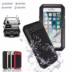 Aluminium Gel PE Shockproof Waterproof Case For iPhone 7 Plus