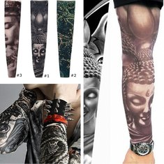 Tattoo Sleeves Arm Stockings Motorbike Riding Cycling Outdoor Sports Sunscreen