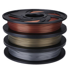 Aluminum/Bronze/Copper Color 1.75mm 0.5kg/1.1lb PLA Flexible Filament For 3D Printer RepRap