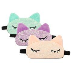 Cute Cartoon Padded Lace Sleep Eye Mask Rest Travel Blindfold Shade Light Cover