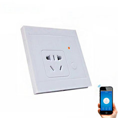 SONOFF® S85 10A 2200W 86-Type Wireless Remote Intelligent Remote Control Wall Socket Mobile App Control Switch