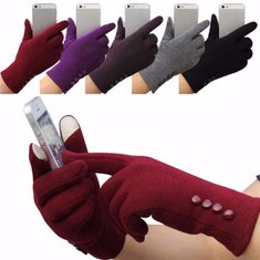 Women Winter Touch Screen Gloves Ladies Outdoor Cotton Mittens for Xiaomi iPhone Samsung