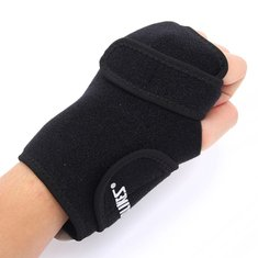 2 Pcs Adjustable Elastic Wrist Support Sport Hand Palm Glove Splint Arthritic Brace For Left Palm