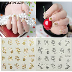 Christmas Santa Claus Nail Art Stickers Water Decals Transfer Decor