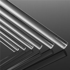 2 to 12mm Diameter Clear Perspex Acrylic Plastic Round Rod  500mm Long Circular Bar