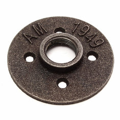 3/4 Inch Black Malleable Iron Floor Flange Fitting Pipe NPT Antique Wall Flange Seat