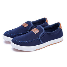 New Men Canvas Shoes Breathable Slip-on Fashion Recreational Sneaker Casual Shoes