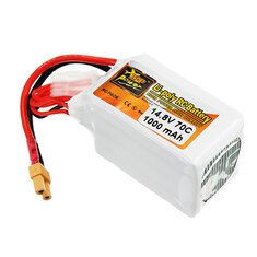 ZOP Power 14.8V 1000mAh 70C 4S Lipo Battery XT30 Plug
