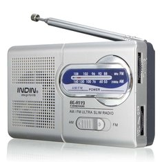 INDIN BC-R119 AM/FM Portable Pocket Radio Receiver Telescopic Antenna World Receiver 3.5mm