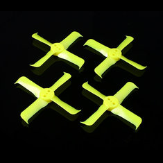 2 Pairs FleekProp 2036-4 2x3.6x4 4-blade Propellers CW CCW Yellow for 1102 1103 1104 Motor