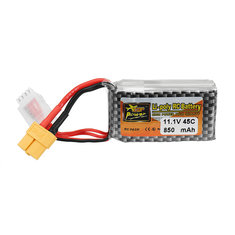 ZOP Power 11.1V 850mAh 45C 3S Lipo Battery XT60 Plug for Drone