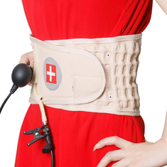 JMRON CR-801 Air Traction Back Brace Waist Belt Lumbar Support Pain Release Massager