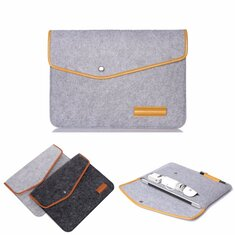 12 Inch Wool Leather laptop Sleeve Bag For Laptop Tablet Macbook 12
