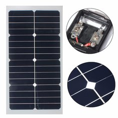 20W 12V 54CM x 28CM Photovoltaic semi flexible Solar Panel With 3M Cable