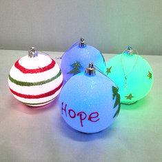 Battery LED Christmas Tree Baubles Hanging Decoration Ball Christmas Gifts