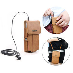 Remax Leather Phone Pouch With Headphone