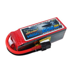 Giant Power DINOGY MEGA GRAPHENE 2.0 14.8V 1550mAh 4S 75C XT60 Lipo Battery For FPV Racing Drone