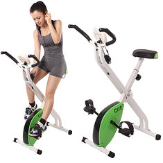 Folding Magnetic Fitness Exercise Bike Gym Cardio Fitness Training Equipment for Home Office