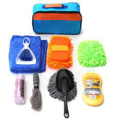 9 PCS Set  Car Cleaning Kit Products Tools Wash Clean Interior Exterior For Car