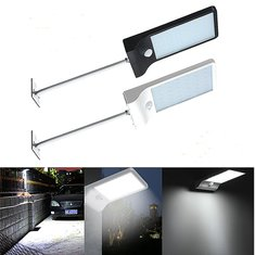Waterproof 36 LED Outdoor Solar Powered PIR Motion Sensor Security Lamp Light Mounting Pole Fit Home