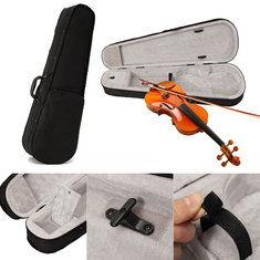 Black Cloth Fluff 4/4 Triangle Violin Case Bag For Full Size Violin Acoustic