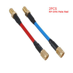 2PCS Aomway CBA004 80mm FPV Antenna Extension Cord Wire Prolonging Adaptor RP-SMA Male Red