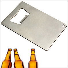 Portable Credit Card Size Bottle Beer Opener Stainless Steel Wallet Size Beer Opener