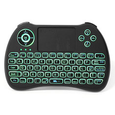 iPazzPort KP-810-21Q 2.4G Wireless French Three Color Backlit Mini Keyboatd Touchpad Airmouse