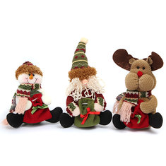 Christmas Decoration Santa Snowman Elk Pattern Pedant Ornament