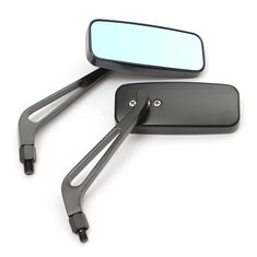 8mm 10mm Aluminum Motorcycle Rectangle Rear View Side Mirror Universal