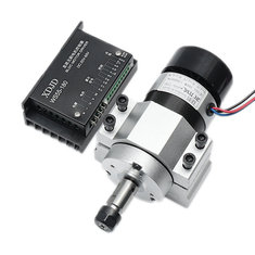 400W 12000rpm ER11 Chuck CNC Brushless Spindle Motor with Driver Speed Controller and Clamp