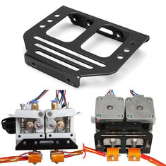 Metal MK8 Extruder Holder Chassis For Dual Head 3D Prusa I3 Printer