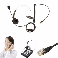 Telephone Call Centre Headset Noise Cancelling Microphone RJ11 Headset For Office Phone