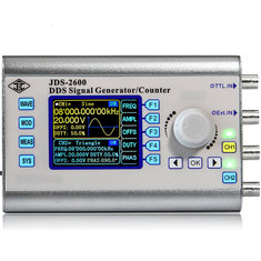 JDS-2600 2 Channel DDS Signal Generator Counter Arbitrary Wave Function Generator 266MSa/s Sampling Rate 15MHz/30MHz/40MHz/50MHz/60MHz