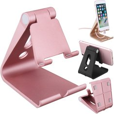 Universal Desk Desktop Phone Stand Aluminum Holder Bracket for iPhone Samsung Xiaomi Tablet