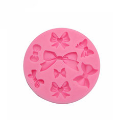 Silicone Bowknot Shapes Mold Soap Fondant Cake Decoration
