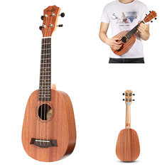 21 Inch Soprano Pinapple Mahogany Ukulele 4 Strings Hawaii Mini Guitar Children Gift