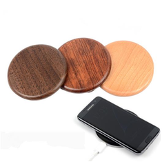 NW170 Solid Wood QI Wireless Charging Pad For Cell Phone