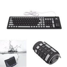 Portable Flexible Waterproof Soft Silicone Keyboard 103 Keys Foldable Numeric Keypad For Mac Android Laptop PC